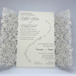 Ivory Spring Vines Lace Laser Cut Gatefold and Ecru Wedding Invitation