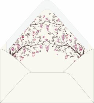 Blessed Canopy   Custom Hand Lined Envelopes