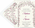 Sparkling Canopy Wedding Invitation