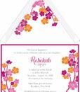 Beach Flower Bat Mitzvah Invitation