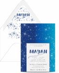 Around the Stars Bat Mitzvah Invitation