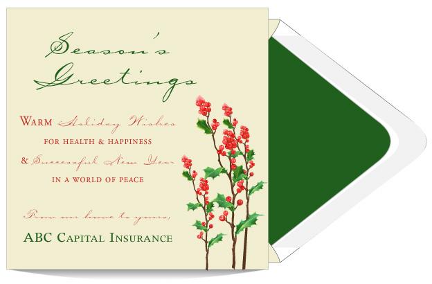 Warm Season S Greetings Wishes Holiday Card Custom